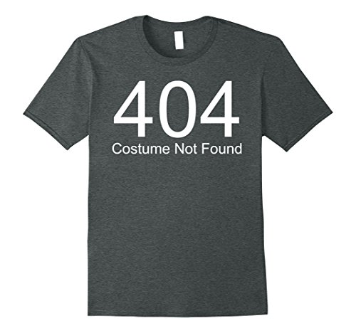 Last Minute Costumes Make (Mens 404 Costume Not Found Genius Last minute Halloween Costume Small Dark Heather)
