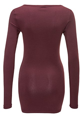 Vero Moda Damen Langarmshirt T-Shirt Longsleeve Basic (44 (Herstellergröße: XXL), Port Royale)