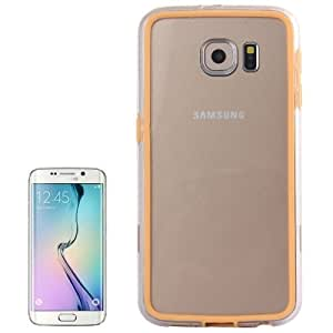 Transparent Plastic + TPU Bumper Frame Case for Samsung Galaxy S6 / G920(Orange)