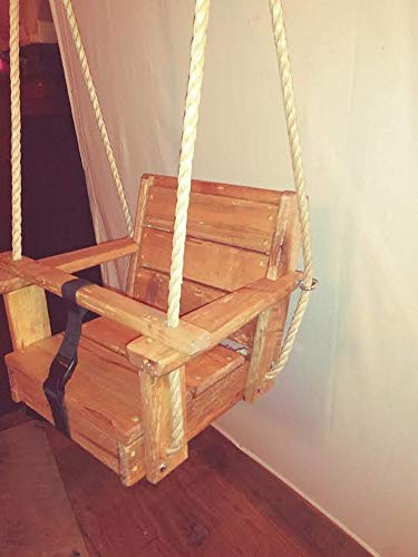 Special Needs Cypress Wood Swing/10 Feet of rope each side