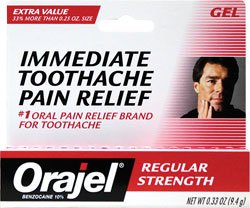 Orajel Force régulière Toothache Pain Relief Gel-0,33 oz