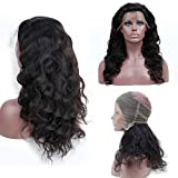 Plucked Lace Frontal Wig With Baby Hair Body Wave Lace Front Human Hair Wigs Remy Hair,Natural Color,14inches