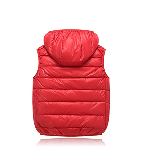 Kids Winter Vest Chic Hooded Lightweight Red Outwear Jacket Lemonkids;® Children fAcqWZw6W5