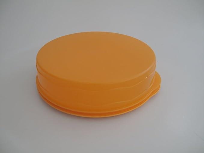 TUPPERWARE Junge Welle Kuchenform Rund Orange Kuchen Form Tortenbehälter Torty 7707