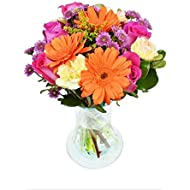 Purchase Now for Delivery by Monday | The Spring Fling Bouquet by Arabella Bouquets with a Free Designer Glass Vase