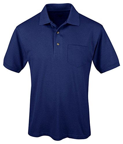 Tri Mountain Mens Peak Performers Easy Care Pocket Shirt Royal 2Xlt