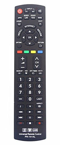 Gvirtue Universal Remote Control Compatible Replacement for Panasonic TV/Viera Link/HDTV/ 3D/ LCD/LED, N2QAYB000485 N2QAYB000100 N2QAYB000221 N2QAYB00048 by Gvirtue
