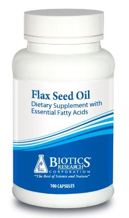 Biotics Research Flax Seed Oil -- 100 Softgel Capsules Flax Oil 100 Softgels