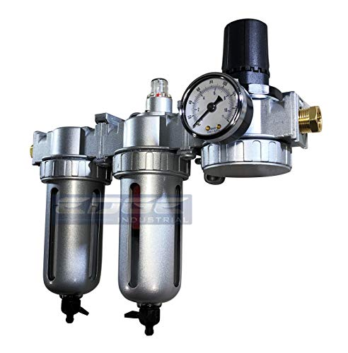 - Three Stage Air Drying System - Air Particulate Filter, 0.01 Micron Coalescing Filter & Air Pressure Regulator Modular Combo 1/2