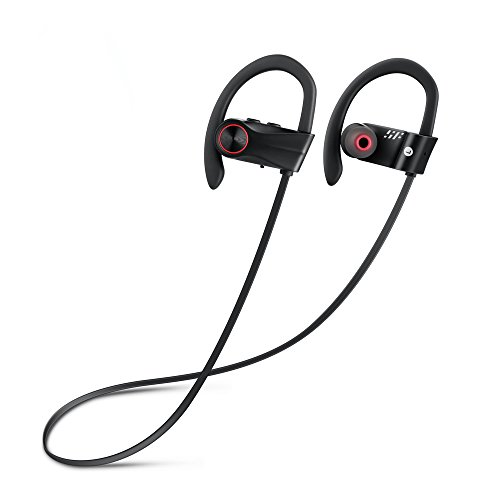 Siroflo Bluetooth Sports Earphones BH01 Wireless Sports Earphones with Mic, IP67 Grade Waterproof Dustproof Protection, Connect to Siri (Black) by Siroflo