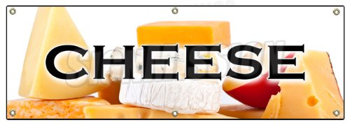 "72"" Cheese Banner Sign Dairy Milk American Swiss Grilled for sale  Delivered anywhere in USA"