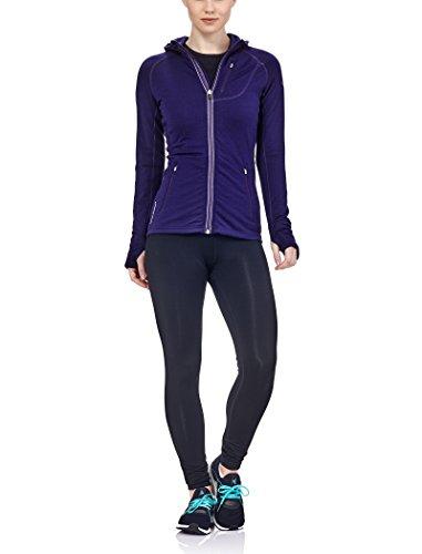 Icebreaker Merino Women's Quantum Long Sleeve Zip Hoodie, Aura/Aura/Aura, - Shirt Quantum Hooded