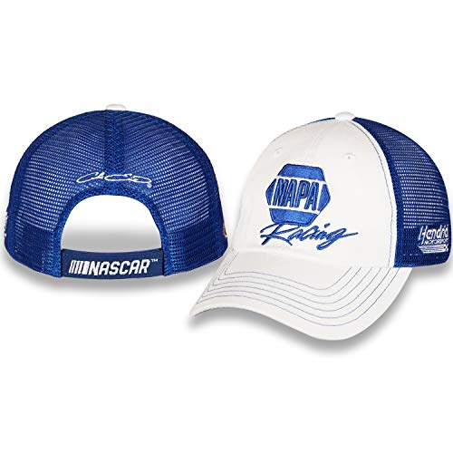 - Checkered Flag Chase Elliott 2019 Napa Racing Mesh NASCAR Unstructured Hat/Cap White, Blue