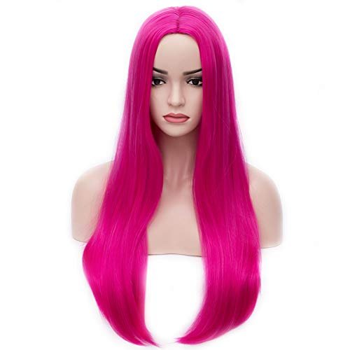 BERON 25 inches Silky Long Straight Wig Charming Women Girls Straight Wigs for Cosplay Party or Daily Use Wig Cap Included (Hot -