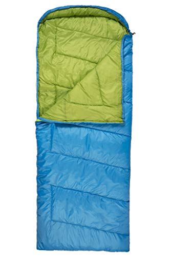 TETON Sports Colbalt Sleeping Bag Lightweight Backpacking Sleeping Bag for Hiking and Camping Outdoors in Warm Weather Never Roll Your Sleeping Bag Again Stuff Sack Included