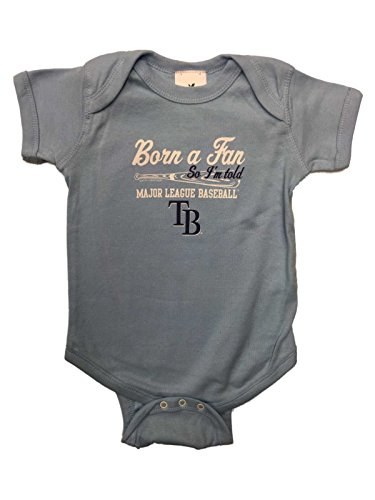 Tampa Bay Rays INFANT BABY Unisex Light Blue Born a Fan One Piece Outfit (12M)