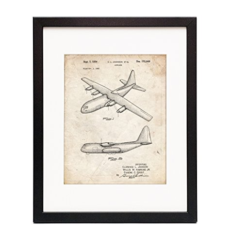 Used, C-130 Hercules Airplane Framed Patent Print for sale  Delivered anywhere in USA