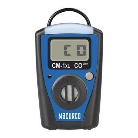 Carbon Monoxide Single Gas Monitor (Macurco CM-1XL Carbon Monoxide CO Single-Gas Monitor with Stel, Twa, Replaceable Battery and Sensor)
