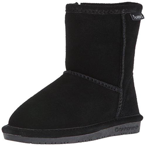 BEARPAW Baby Emma Zipper Mid Calf Boot, Black, 8 M US Toddler ()
