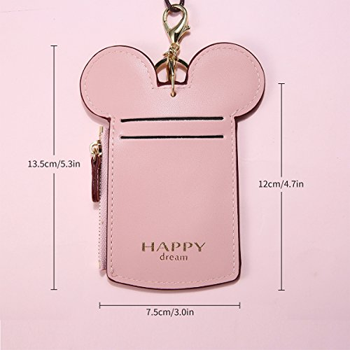 Neck Pouch, Charminer Card Holder Wallet Purse Neck Bag Travel Documents, Cute Animal Shape for Women Pink pink by CHARMINER (Image #3)