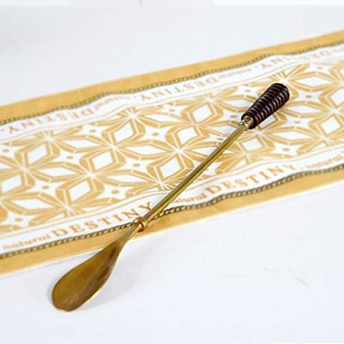 軽量 ヴィンテージ真鍮ソリッドウッドハンドル靴ホーンシンプルな銅靴リフターの高級家庭用品靴ヘルパー 耐用 (Color : Brass, Size : 46x3x4cm)