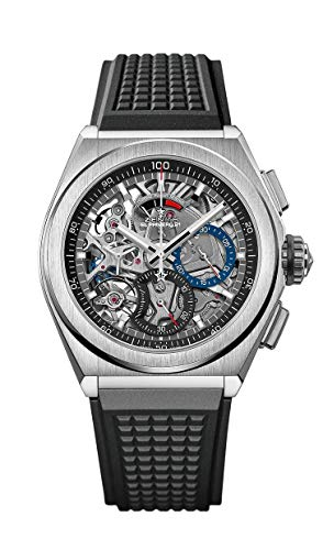 Zenith Mens Defy El Primero 21 44mm Titanium Skeleton Watch 95.9000.9004/78.R782