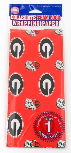 NCAA Georgia Bulldogs Wrapping Paper