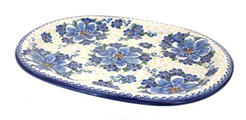Daisy Oval Platter - OKSLO Polish pottery daisy surprise large oval platter