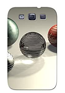 Crazinesswith Top Quality Case Cover For Galaxy S3 Case With Nice Metallic Spheres Appearance