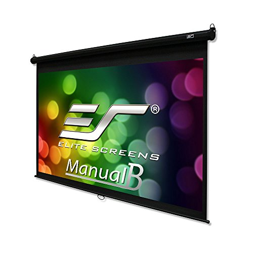 Elite Screens Manual B, 120'' 16:9, Manual Pull Down Projector Screen 4K / 3D Ready with Slow Retract Mechanism, 2 Year Warranty, M120H by Elite Screens