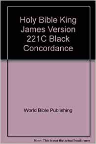 bible concordance kjv holy bible king version 221c black concordance 15570