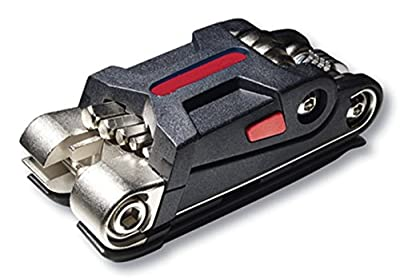 SIGTUNA Bike tool - Pro 18-Function Bicycle Multi Tool of Hardened ABS Steel with Hex Keys, Spoke and Wring Wrenches, Screwdrivers, Tire levers and a Chain Rivet Extractor