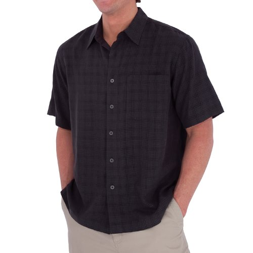 Royal Robbins San Juan Short Sleeve Shirt,OBSIDIAN,Medium (Desert Pucker S/s Shirt)
