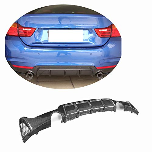 - MCARCAR KIT Rear Diffuser fits BMW 4 Series F32 F33 F36 M Sport 2014-2018 Customized 435i 420i 435i 440i M-Tech Bumper Lip Lower Spoiler (Twin Outlet for Dual Tail Pipes, Carbon Fiber)