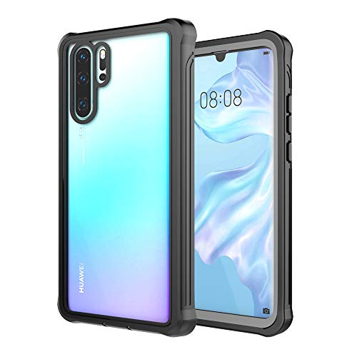 Huawei P30 Pro Case, DOOGE Tough Armor Rugger Full-Body Heavy Duty Dropproof Dustproof Shockproof Bumper Case with Built-in Screen Protector for Huawei P30 Pro 2019
