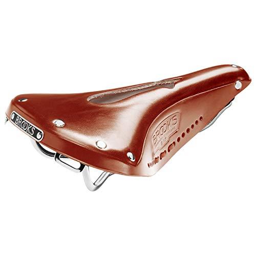 (Brooks Saddles Men's Imperial B17 Standard Bike Saddle with Hole and Laces, Honey)
