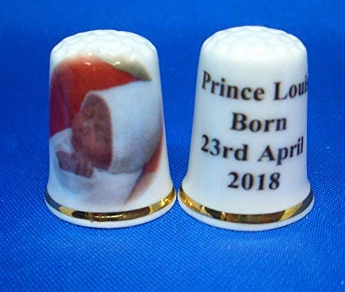 Birchcroft Porcelain China Collectable Thimble - Prince Louis Born - Free Gift Box Birchcroft China