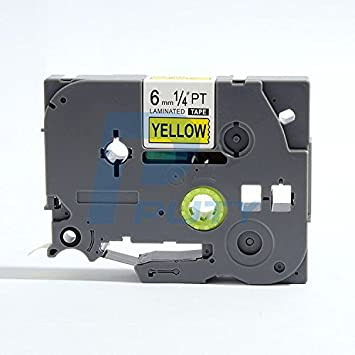 5 x Compatible TZ-S641//TZe-S641 Black on Yellow Extra Strength Adhesive Label Tapes for Brother P-Touch Label Printing Machines 18mm x 8m