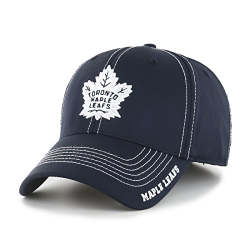 Maple Leafs Hats (NHL Toronto Maple Leafs Start Line OTS Center Stretch Fit Hat, Navy, Large/X-Large)