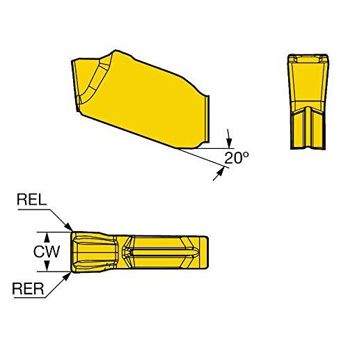 Carbide +Al2O3+TiN Pack of 10 3330 Grade C,N Neutral Cut Inveio Coating Technology Ti Sandvik Coromant QD-NK-0600-050M-KM 3330 Coro Mill QD Insert for Grooving