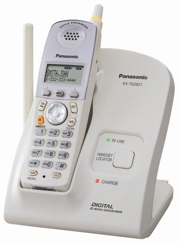 Panasonic KX-TG2621W 2.4 GHz FHSS GigaRange  Digital Cordless Telephone