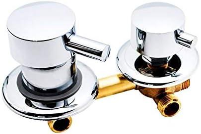 Yitang 2/3/4/5ウェイウォーターアウトレットねじ用中心距離10センチメートル12.5センチメートル混合弁真鍮の浴室のシャワーミキサー蛇口タップキャビン (Color : Intubate 5out 12.5cm)