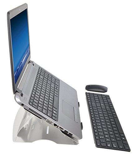 Desq 1506 Carta y cestas de, plegable, aluminio ligero soporte para portátil y fácilmente en una bolsa de ordenador portátil de llevar, Plata: Amazon.es: ...