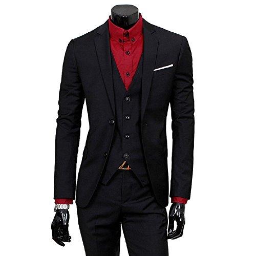 Costume Fit Oeak Soirée Noir 3 Slim Pieces Affaire Mariage Homme dqPXPwxC