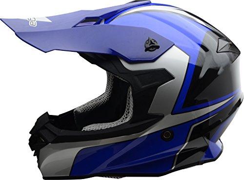Vega Helmets Unisex-Adult Off-Road-Helmet-Style VF1 (Limited Edition Blue, Large) ()