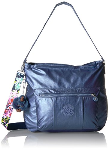 a Mtlcsubdvb Floral Crossbody Hobo with Strap Printed Metallic Bag Kipling Carley WnYpqvpwg