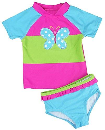 Jojobaby Colorful Rainbow Swimsuit Swimwear