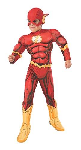 Rubie's Costume DC Superheroes Flash Deluxe Child Costume, -