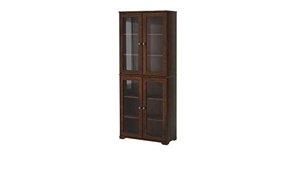 Ikea Borgsjo Glass Door Display Curio Cabinet Dark Brown: Amazon ...
