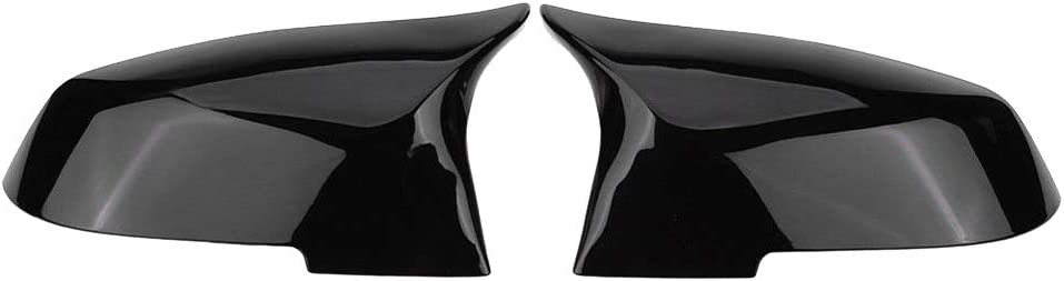 M4 Style Bright Black TOOGOO for BMW F20 F21 F87 M2 F23 F30 F36 X1 E84 Gloss Black Side Mirror Cover Cap Rearview